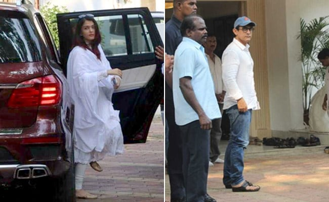 Aishwarya Rai Bachchan, Aamir Khan, Kareena Kapoor And Others Pay Last Respects To Krishna Raj Kapoor