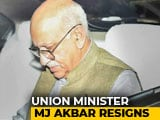 Video : Union Minister MJ Akbar Resigns Over #MeToo Allegations