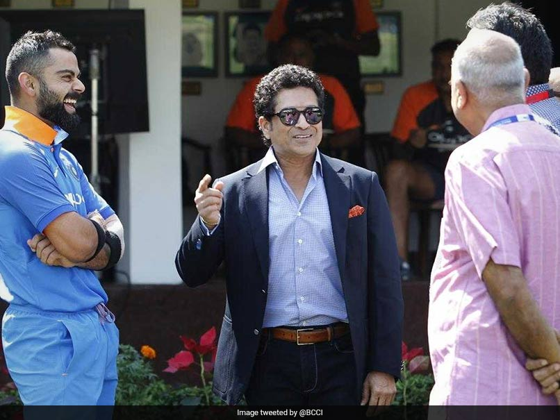 Watch: Sachin Tendulkar Rings The Bell Before Start Of Fourth ODI Against West Indies
