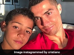 Watch: Cristiano Ronaldo Jr Follows Dad