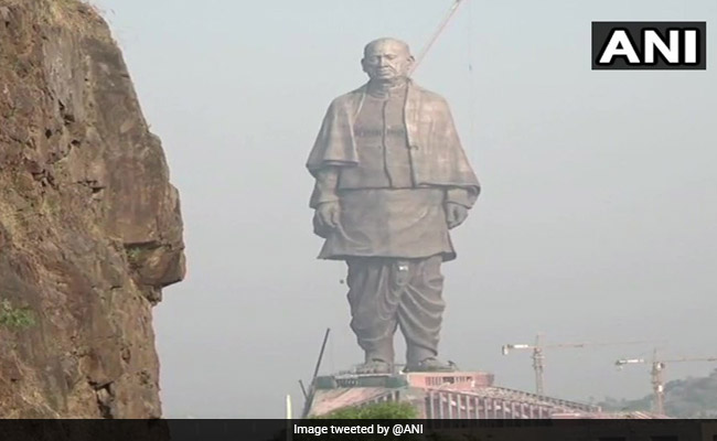 Ahead Of Inauguration, Sardar Patel Statue Gets Finishing Touches