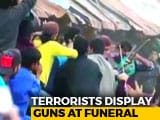 Video : Video Shows Gun-Waving Terrorists Lead Crowds At Funeral In Kashmir