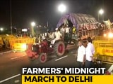 Video : Farmers End Protest After Delhi Midnight March, Schools Shut In Ghaziabad