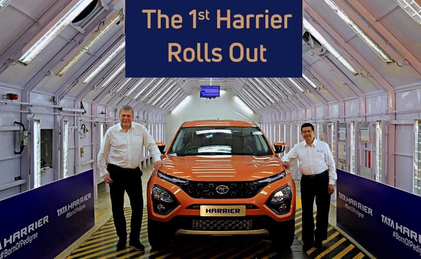Guenter Butschek, CEO (left) and Rajendra Petkar, CTO (right) of Tata Motors with the new Harrier SUV