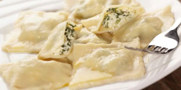 Ravioli with Coconut Milk and Lemongrass Sauce