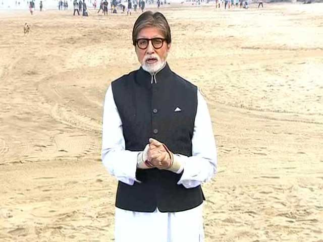 Video : Amitabh Bachchan Sets Clean, Green, And Healthy Agenda For Cleanathon