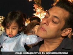 This Candid Pic Of Salman Khan With Nephew Ahil Is Way Too Cute To Be Missed
