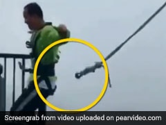 Watch: Man's Narrow Escape As Safety Cord Snaps On 500-Foot Bridge
