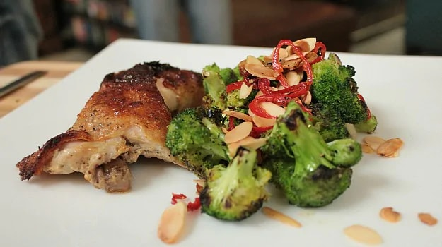 Buttermilk Chicken with Char Grilled Broccoli