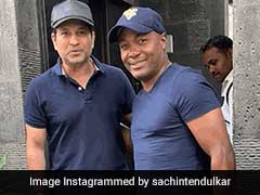 "Sachin Tendulkar Gets A Surprise Visit From ""Good Friend"" Brian Lara"