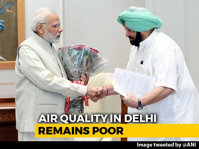 Video : Amarinder Singh Meets PM Modi, Asks Compensation For Stubble Burning