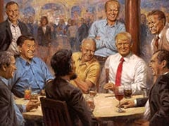 How Portrait Of Trump Drinking Diet Coke With Lincoln Reached White House