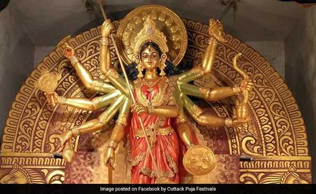Gold, Silver Embellishments Adorn Durga Puja Pandals In Cuttack