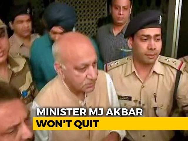 Video : Minister MJ Akbar Won't Quit Over #MeToo, Warns Legal Action