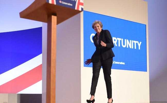 Watch Theresa May Channel 'Dancing Queen' Ahead Of Speech At Party Meet
