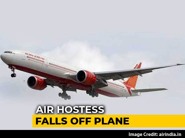 Video : Air India Air Hostess Seriously Injured After Falling Off Plane In Mumbai