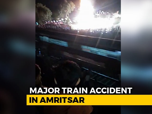Video : Many Killed As Train Runs Over People Watching Ravan-Burning In Amritsar