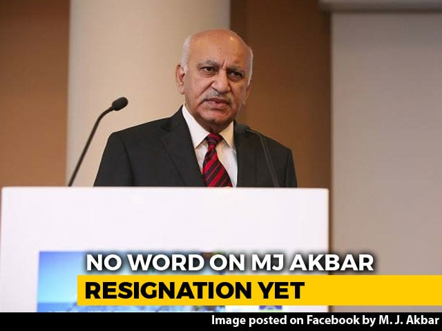 Video : Amid Calls For Resignation, #MeToo-Accused MJ Akbar Says Statement Later