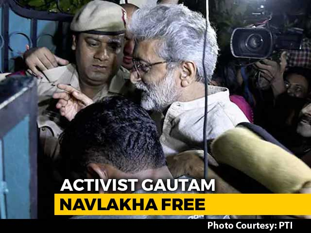 Video : Activist Gautam Navlakha Freed From House Arrest By Delhi High Court
