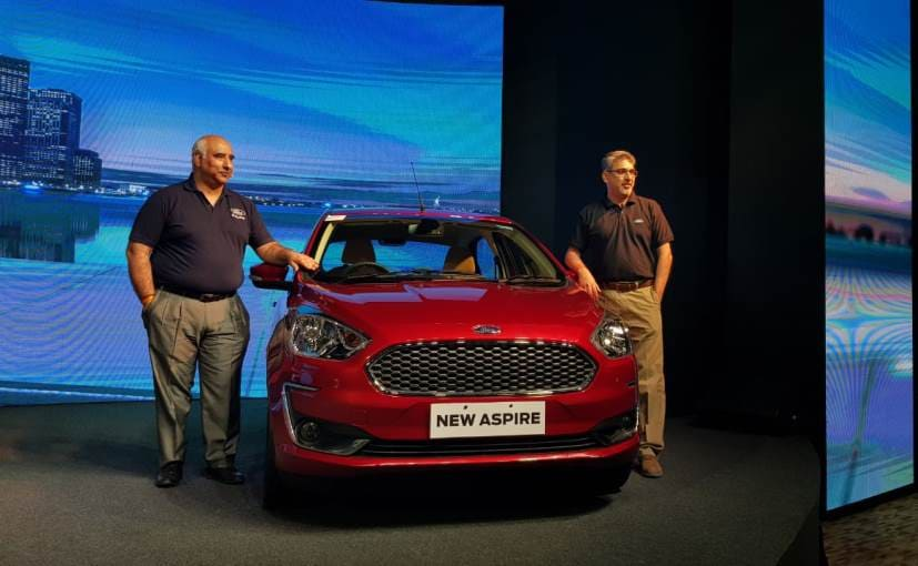 Ford Aspire Facelift Launched Prices Start At Rs 5 55 Lakh Ndtv