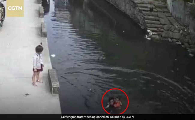 Caught On Camera: Delivery Man Saves 6-Year-Old Girl From Drowning