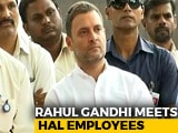 Video : Want To Stand With You, Rahul Gandhi Tells HAL Workers Over Rafale