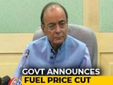 "Video : ""All Chief Ministers On Test Now,"" Says Arun Jaitley, Cutting Fuel Price"