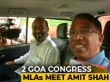 "Video : 2 Congress ""Runaway"" Lawmakers Take Flight From Goa, Land In BJP"