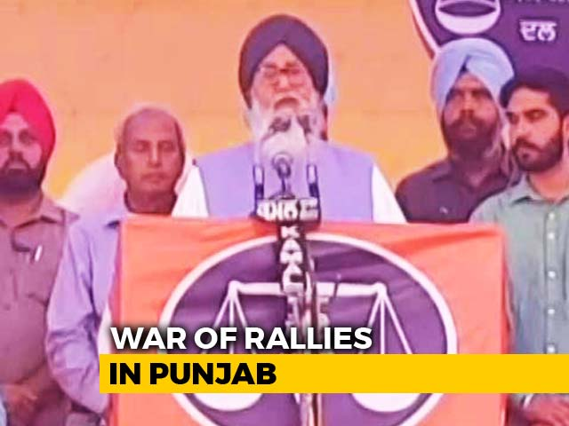 Video : Punjab's Badals, Congress Hit Each Other's Strongholds With Rival Rallies