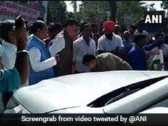 On Video, Cop Touches UP Minister's Feet, Apologises For Hitting His Car