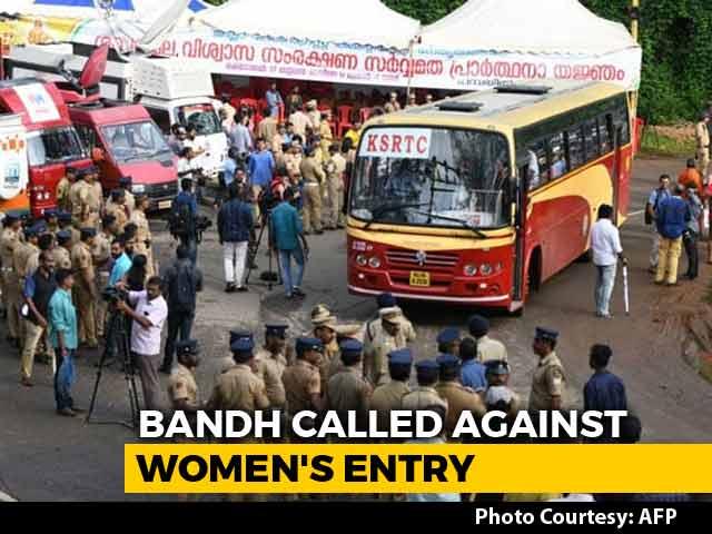 Video : Shutdown In Kerala, Protesters Stop Women Devotees At Sabarimala