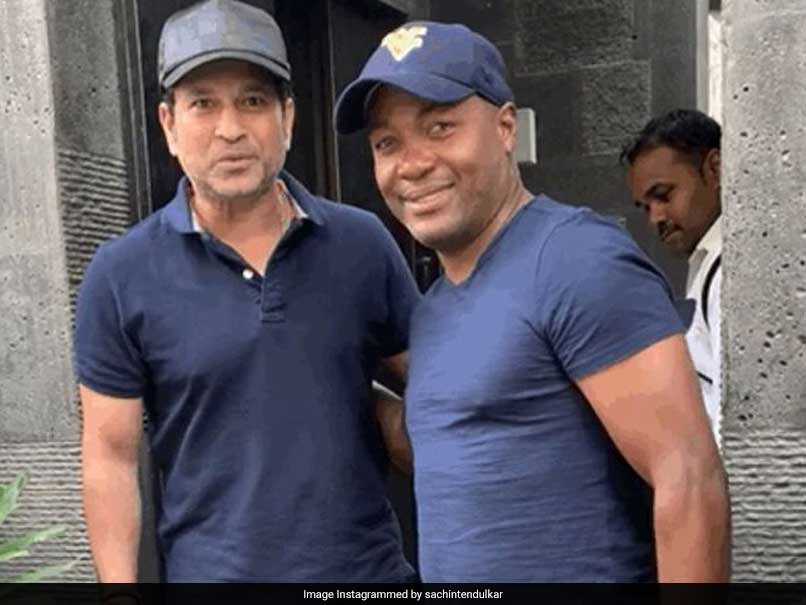 "Sachin Tendulkar Gets A Surprise Visit From ""Good Friend"" Brian Lara"