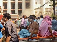 Patients Moved Out In Bedsheets With IV After Fire In Kolkata Hospital