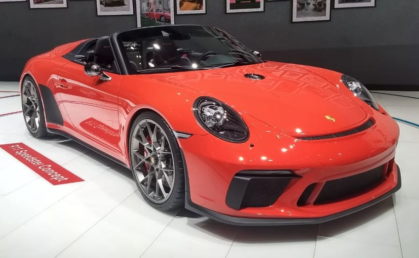 2018 paris motor show porsche 911 speedster to enter production in 2019 ndtv carandbike. Black Bedroom Furniture Sets. Home Design Ideas