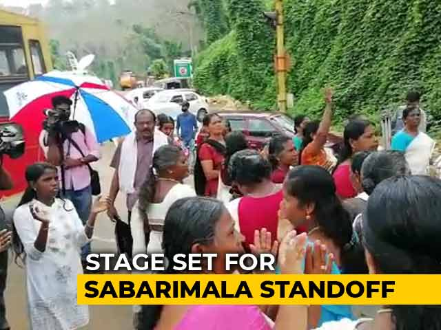 Video : Protesters Check Vehicles For Women Day Before Sabarimala Temple Opening