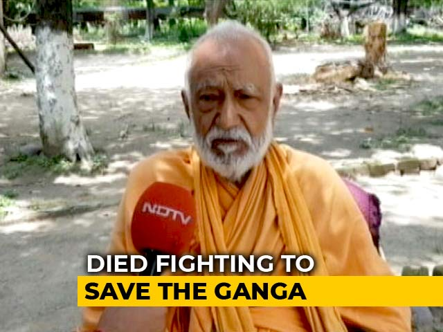 Video : Body Of Ganga Activist GD Agarwal, Who Died After 111-Day Fast, Taken For <i>Darshan</i>