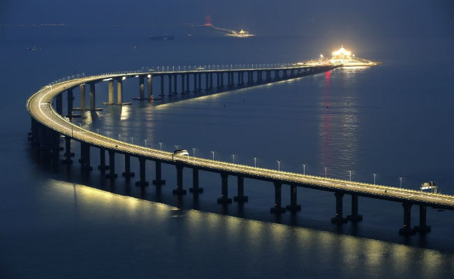 World's Longest Sea-Crossing Bridge Between Hong Kong, China To Open Soon