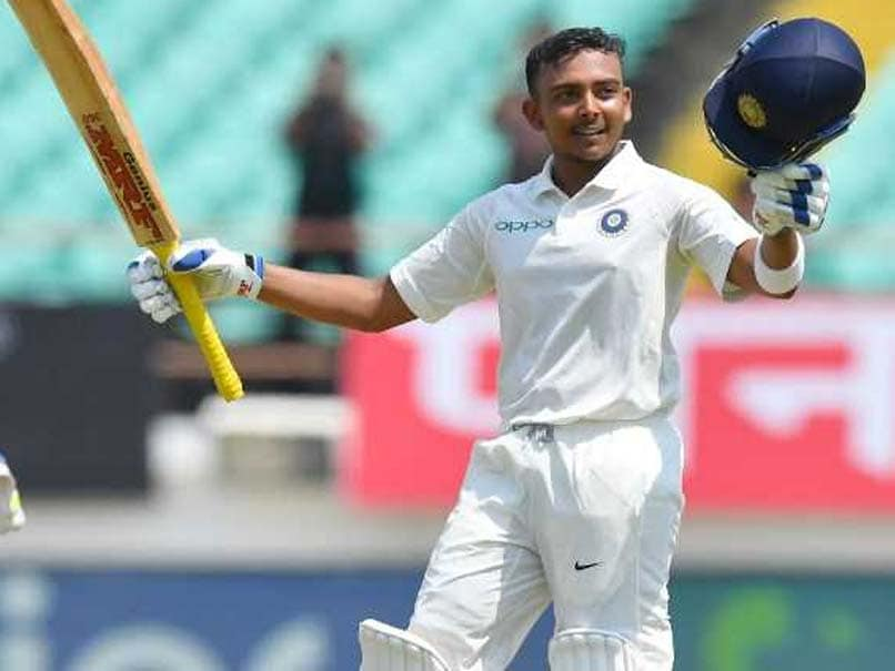 Prithvi Shaw's debut hundred highlights Indian domination in Rajkot Test