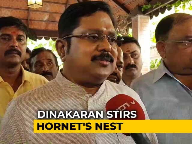 Video : OPS Wants Chief Minister Palaniswami Out, Reached Out To Me: Dhinakaran