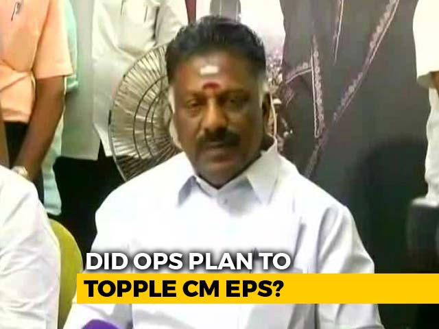 Video : Met Dhinakaran, But Not To Topple Palaniswami Government: O Panneerselvam