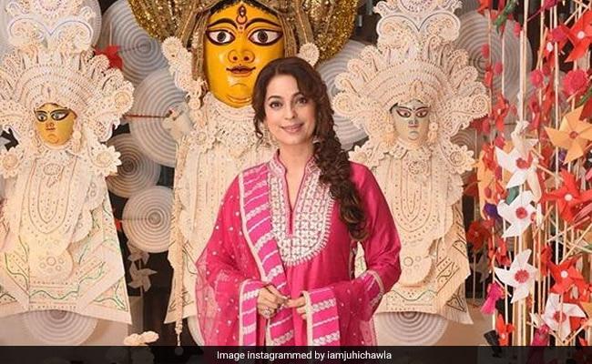 Juhi Chawla's Durga Puja Pic Brings Festive Vibes To Instagram
