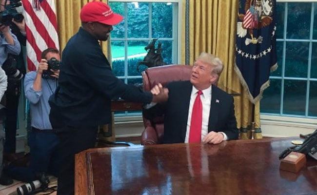 'I Love This Guy': Rapper Kanye West Hugs Donald Trump
