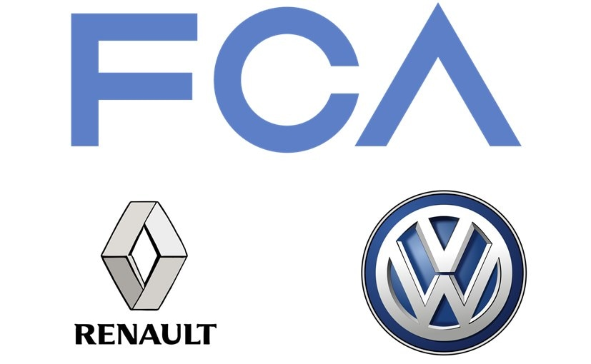Volkswagen Group sales fell by 47.8 per cent, FCA's by 31.4 per cent, Renault's by 26.9 per cent