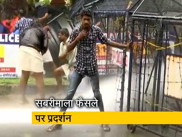 Videos : सबरीमाला के मुद्दे पर भाजयुमो का प्रदर्शन