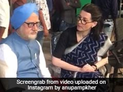 Anupam Kher Shares A BTS Video From The Sets Of <I>The Accidental Prime Minister</I>
