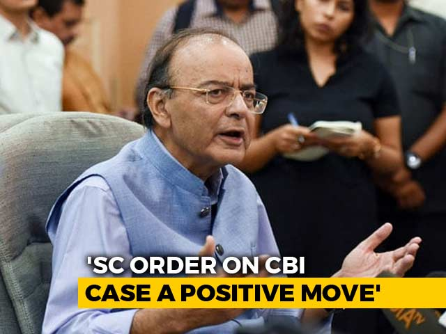 "Video : ""Caesar's Wife Must Be Above Suspicion"": Arun Jaitley On CBI No 1 And 2"