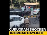 Video : Wife, Son Of Judge Shot At By His Guard On Busy Street In Gurugram