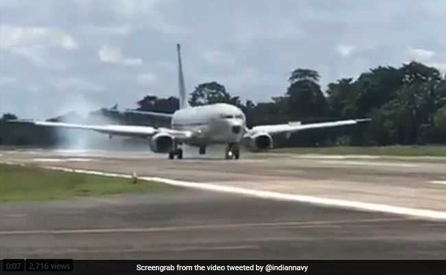 Navy's Reconnaissance Aircraft Makes First Landing In Car Nicobar