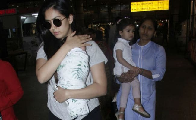 Mira Rajput Flies Out Of Mumbai With Children Misha And Zain See