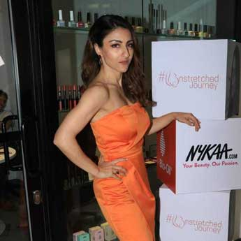 Soha Ali Khan Shows Us How Orange Is The New Black. Get Her Look